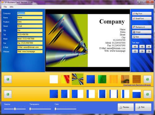 SF-Business Card full screenshot